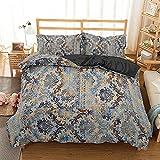 Morbido Conjunto de ropa de cama de algodón de poliéster de textiles de poliéster impreso DIY ropa de cama con funda de almohada edredón □ Dormitorio de la cubierta 3pcs para la decoración de la ropa