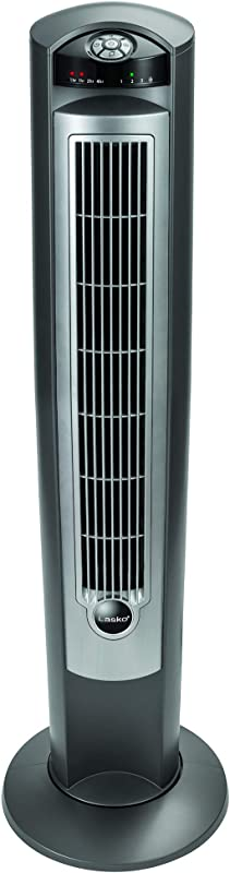 Lasko T42951 Wind Curve Portable Electric Oscillating Stand Up Tower Fan With Remote Control For Indoor Bedroom And Home Office Use 13x13x42 5 Silver