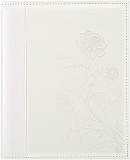 Artmag Photo Picutre Album 4x6 400 Photos, Extra Large Capacity Leather Cover Wedding Family Photo Albums Holds 400 Vertical 4x6 Photos with White Pages(White)