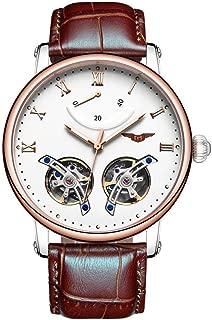 Classic Tourbillon Automatic Mechanical Watch Men's Roma Number Luminous Wrist Watch Energy Display GUANQIN