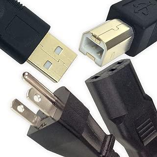 Ipax 10ft Long USB Printer + Power Cable Compatible with Canon ImageClass D530 D550 D1520 D1550 LBP251dw LBP6030w MF216n MF232w MF236n MF247dw MF4770n