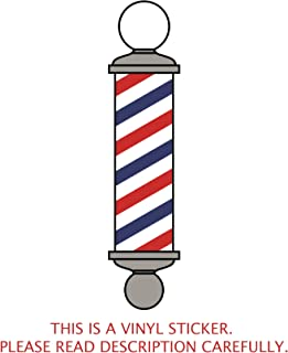 barber pole stickers