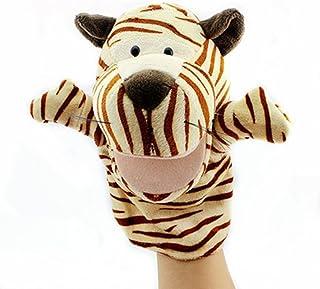 Proumhang Marionetas de Mano Mini muñeca Juguete Peluche Juegos de Animales Bebé Halloween Navidad Día del niño-Tigre