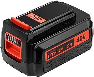 Dosctt 40 Volt Max 3000mAh LBX2040 Replace for Black and Decker 40V Lithium Battery LBXR36 LBXR2036 LST540 LCS1240 LBX1540 LST136W Series