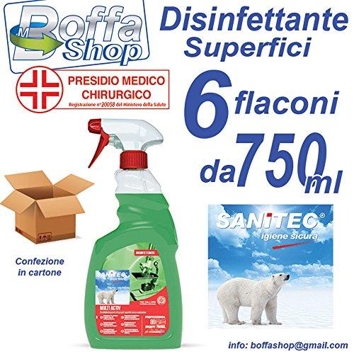 SANITEC MULTIACTIV DISINFETTANTE SUPERFICI. conf. da 6PZ