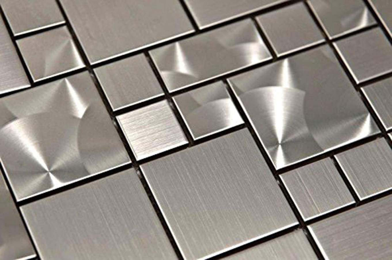Stainless Steel Interlocking Pebble Floor Tile Kitchen Bathroom And Patio Flooring Indoor And Outdoor Use Square Grey Mix Mosaic Quick And Easy Grout Installation Amazon Com
