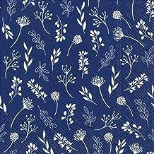 Servilletas de papel para découpage, diseño de azul, de 3 capas, de 33 x 33 cm, 4 servilletas individuales para manualidades y arte