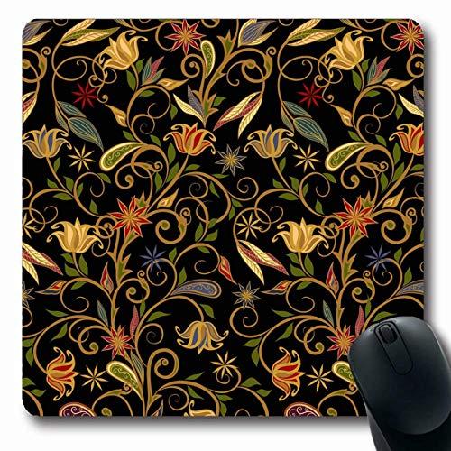 Mausemat Muster Traditionelle Art Ornament Abstrakte Vintage Texturen In Essiggurken Iranische Handgemachte Nahtlose Längliche Mousepad 25X30Cm Gedruckt Büro Rutschfest Benutzerde