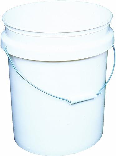 lowest Encore Plastics 50640 Industrial Plastic 70-Mil with online Handle, 5-Gallon, lowest Pail White outlet sale