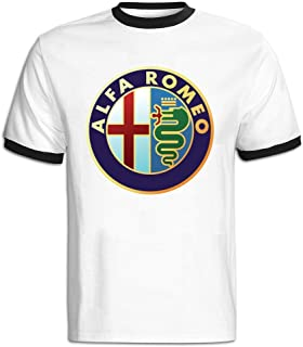 Men's Alfa Romeo Symbol Baseball T Shirt Black