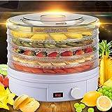 XY-QXZB Máquina deshidratadora eléctrica deshidratadora de frutas de 5 niveles con control de temperatura ajustable (apagado automático)