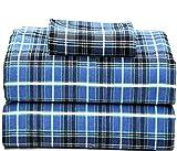 Ruvanti 100% Cotton Flannel Twin Sheets, 3 Pcs Twin Sheets Set Deep Pocket -Warm- Super Soft-Breathable & Moisture Wicking Flannel Twin Kids Bedding Set Include Flat Sheet,Fitted Sheet & 1 Pillowcase.