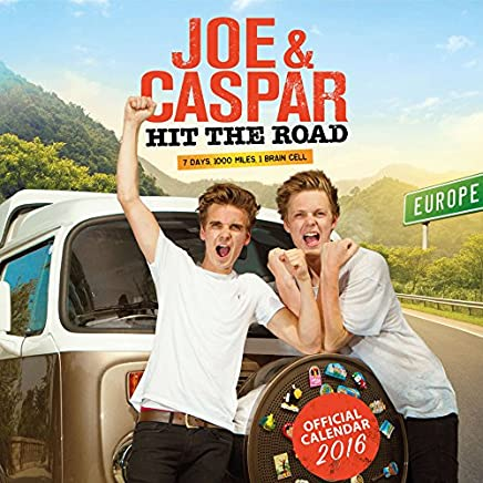 Official Joe & Caspar Hit the Road 2016 Square Wall Calendar