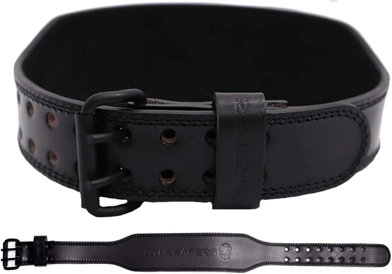 Gymreapers Weight Lifting Belt - 7MM Heavy Duty Pro Leather Belt with Adjustable Buckle - Stabilizing Lower Back Support 4 Inches Wide for Weightlifting, Bodybuilding, Cross Training : Sports & Outdoors