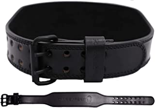 Gymreapers Weight Lifting Belt - 7MM Heavy Duty Pro Leather Belt with Adjustable Buckle - Stabilizing Lower Back Support 4...