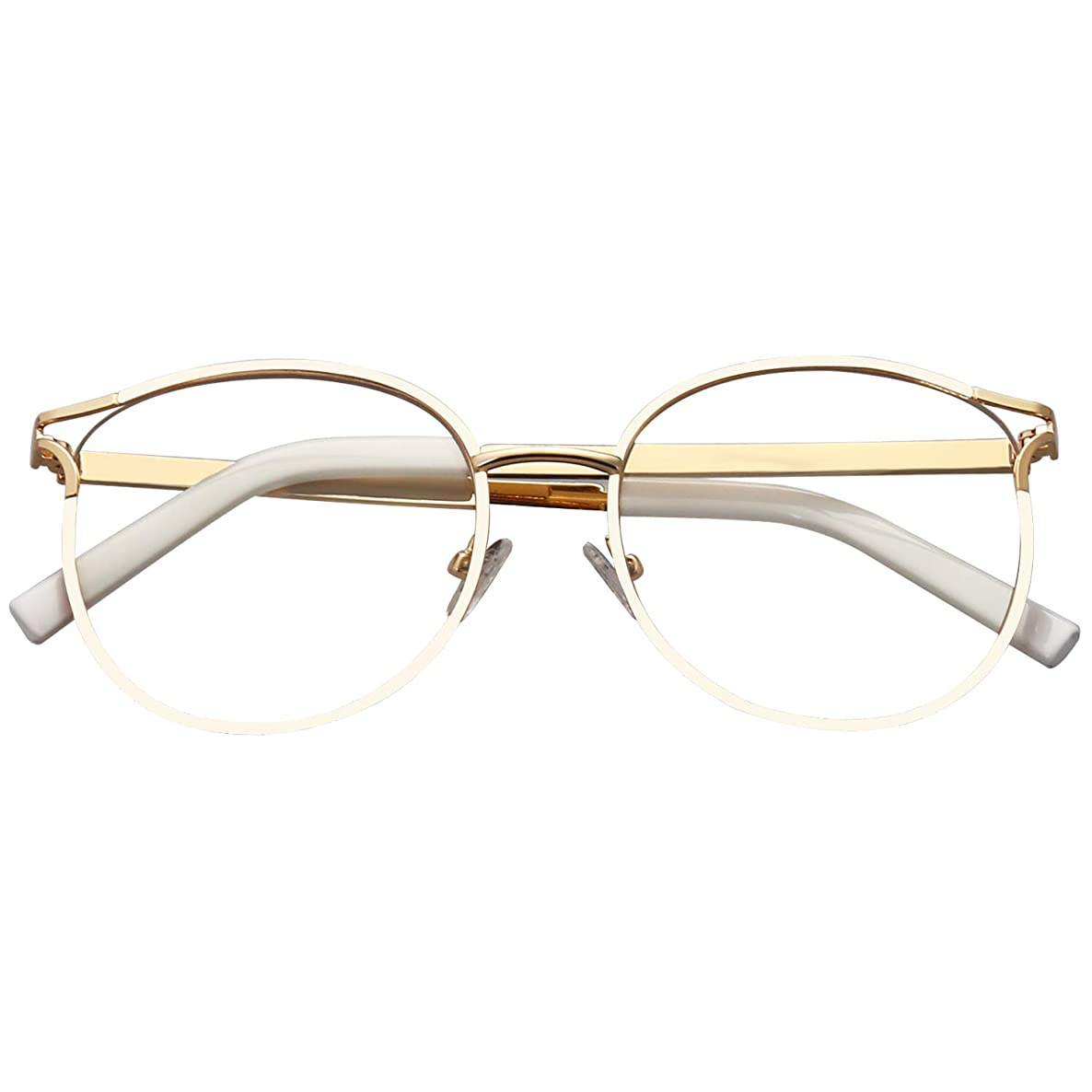 SOJOS Blue Light Blocking Glasses Round Eyeglasses Frame Anti Blue Ray Computer Game Glasses SJ5042