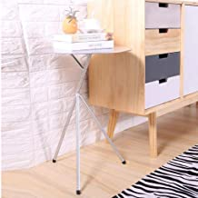 Coffee Table Nordic Side Table Round End Table Iron Sofa Cabinet Corner Table Small Bedside Table Living Room Bedroom (Col...
