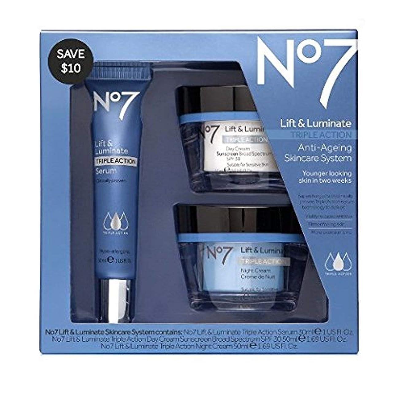 No7 Lift & Luminate Skincare Kit - 3 piece kit from Boots No 7 - Serum, Day Cream, Night Cream