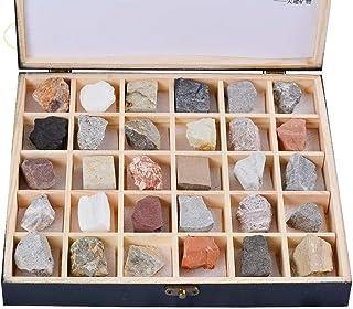 MagiDeal Box of Rock Mineraliensammlung Wissenschaft Quarz Amethyst