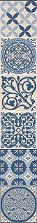 comprar comparacion Plage 260587 Decoración Adhesiva Azulejos, Vinilo, Azul, 15x15 cm, 6 Unidades