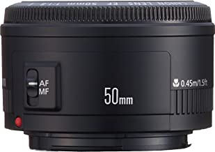 Canon EF 50mm f/1.8 II Standard AutoFocus Fixed Lens - White Box(Bulk Packaging)