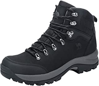 mens black leather hiking boots