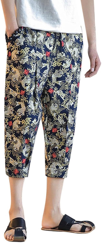 1bae338d25c1a Mens Pants Trousers Cotton Summer Holiday Hippy Boho Pants M5XL ...