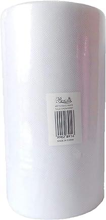 BARATTI Bobina di Tulle da 100 Metri, Bianco, Altezza 25 cm