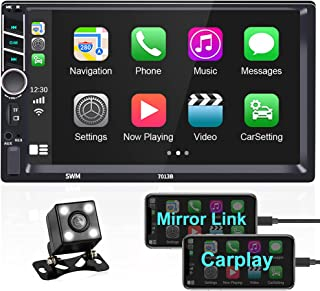 $82 » Sponsored Ad - Autoradio with Carplay Hikity 7 Inch Double Din Touchscreen Car Stereo Bluetooth FM Receiver, Car Radio wit...