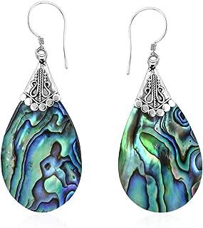 Best sterling silver abalone earrings Reviews