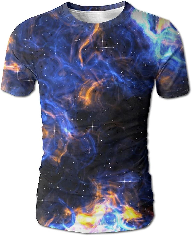 Men's colorful Galxay Shirts Short Sleeve Tops Tee Casual Slam Crewneck T-Shirt