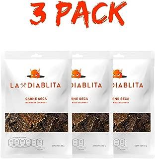 Carne Seca La Diablita 3 Paquetes de 50 Gramos