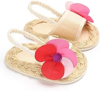 Daringjourney Beb/é ni/ña Hueco Arco Color s/ólido Zapatos Princesa Punta Cerrada Sandalias Transpirables beb/é Caminando Zapatos Primer Paso Edad aplicable 6 Meses 4 a/ños 15-25 Yardas