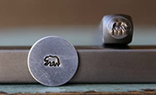 Brand New 4mm Baby Grizzly Bear Metal Punch Design Stamp - Supply Guy - CH-174