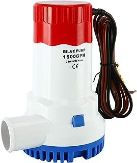 DasMarine 1500GPH 12V Electric Marine Submersible Bilge Sump Water Pump for Boat Yacht