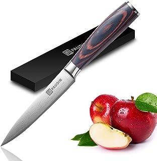 PAUDIN Kochmesser Allzweckmesser Profi 13cm Scharf Küchenmesser Chefmesser aus rostfreiem Deutscher Edelstahl mit ergonomischem Griff