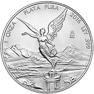 2016 MX Mexican Libertad 999 1 oz Silver Libertad Coin 1 ONZA 1 OZ Brilliant Uncirculated New