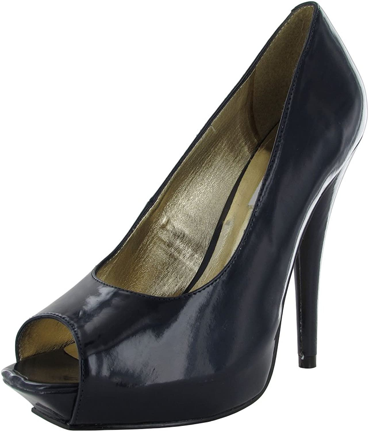Steve Madden Womens P-Renee Classic Stilleto Platform Pump, Navy, US 8.5
