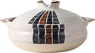 ZMYC Kitchen Pot Clay Casserole,Clay Pot Cooking Pot Terracotta Stew Pot Ceramic Casserole -Strong And Beautiful, Dense Te...
