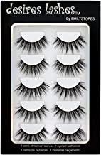 DESIRES LASHES By EMILYSTORES Natural Lashes 3D Layered Effect Fake-Mink Eyelashes Multipack 5Pairs, Dramatic