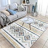 ZMIN Doux Shag Tapis, Moderne Marocain Géométrique Moquettes Salon Canapé Table Basse Topper Matelas Bohême Chambre Accueil Tapis De Tête-f 120x180cm(47x71inch)