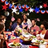 18 Pack Patriotic Party Decoration Kit Patriotic American Flag Pennant Banner Hanging Swirl Red White Blue Star Banner Garland Patriotic Bunting Banner Star Foil Balloons for 4th of July Memorial Day #2