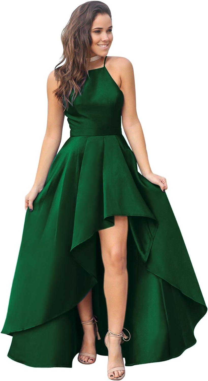 VinBridal 2019 Women's Long Prom Dress Satin High Low Evening Dresses
