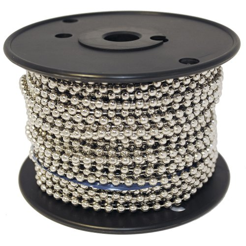 Kugelkette # 10Spule vernickelt Stahl 100Fuß