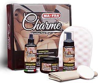 Mafra, charme, reinigingsset voor autostoelen en dashboard, reinigt, verzorgt en maakt leer elastisch, ook geschikt voor g...