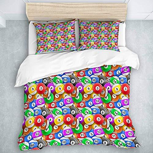 993 CCOVN Bedding Bedrucktes Bettbezug-Sets Billardkugeln Sport Mikrofaser Kinder Student Schlafsaal Bettwäsche Set