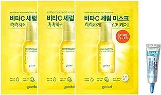 Goodal Green Tangerine Vita C Dark Spot Serum Sheet mask チョンギュル、ビタC汚れセラムシートマスク (3 Sheet (3シート)) [並行輸入品]