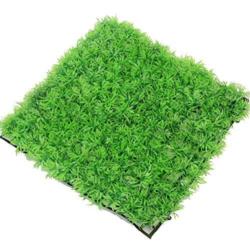 Pinzhi® 1x Aquarium Pflanzen Kunststoff Rasen Plastik Aquarium Gras Künstlich 9.65 * 9.65 * 0.98