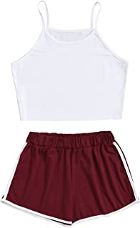Women's Nightwear Lingerie Strapy Crop Top and Shorts Pajama Set