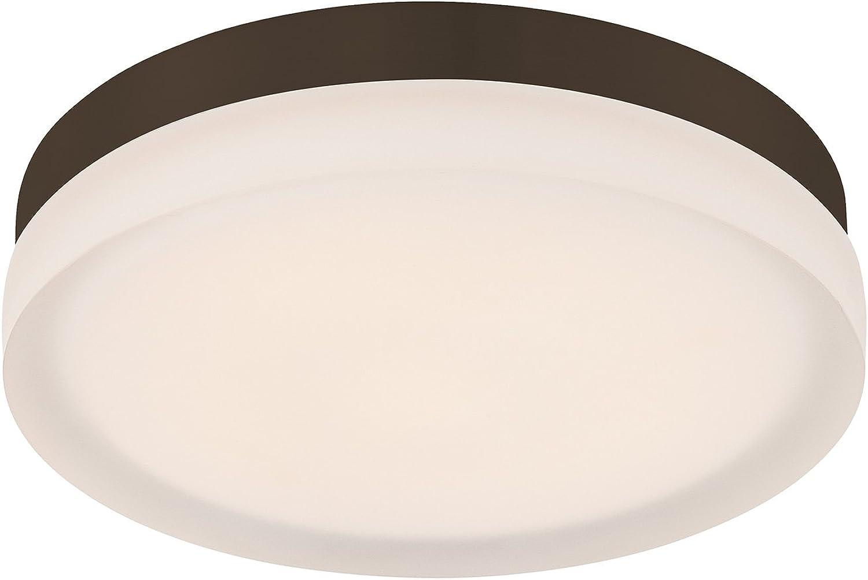 WAC Lighting FM-4109-27-BZ 9in Round Warm White Bronze Slice LED Flush Mount, 9 Inches,